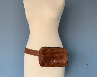 Fanny Pack belt bag hip bag festival bag money pouch brown leather