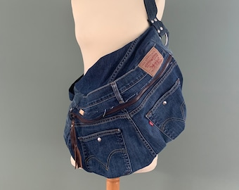 Oversize Fanny Pack xxl recycled Levi's jeans bumbag crossbag