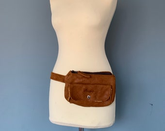 Fanny Pack beltbag waistbag cash pouch brown leather