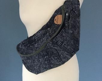 Black jeans Fanny Pack bumbag beltbag