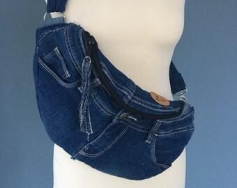Denim Fanny pack Jeans bumbag Hip bag