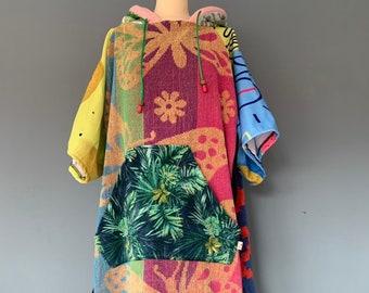 Surf Poncho Towel Surf cape/Hoodie, cape, towelling poncho, surf towel, changing towel, changing towel