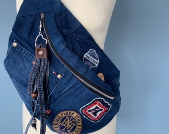 Fanny Pack crossbody bag made from a Tommy Hilfiger jeans
