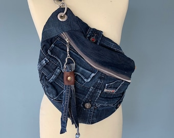 Fanny Pack bumbag made from a diesel jeans
