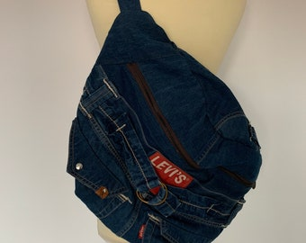 Fanny Pack xxl Oversize bumbag hobotas crossbag recycled Levi's Jeans
