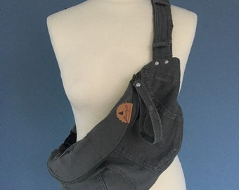 Army Green Fanny Pack bumbag made of jeans hip bag