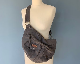 Fanny Pack bumbag oboe bag shoulder bag grey leather