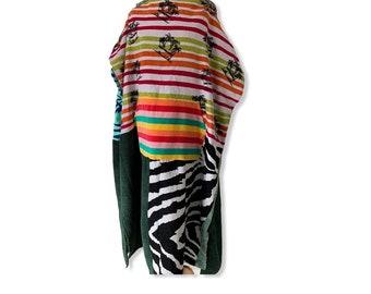 Surfponcho surfcape changing towel surf swim beach hoodie Size XL with Hippie van
