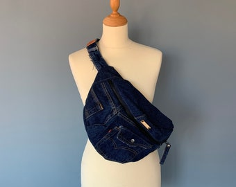 Fanny Pack crossbodytas hobotas bumbag made from Levi's Jeans