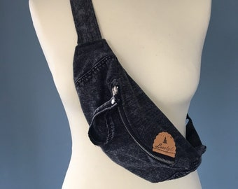 Fanny Pack Belt bag black waist bag small