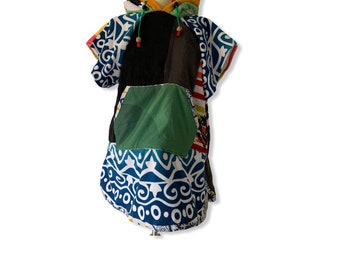 Surfponcho badcape surfcape donned towel small beach hoodie xs