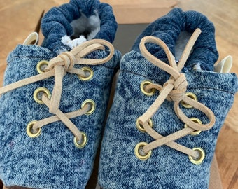 Baby/Kids Slippers of jeans and leather