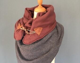 Big Three point scarf shawl XXL