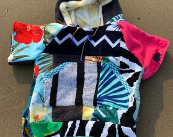 Surfponcho bathcape rug cloth swimming hoodie for kids