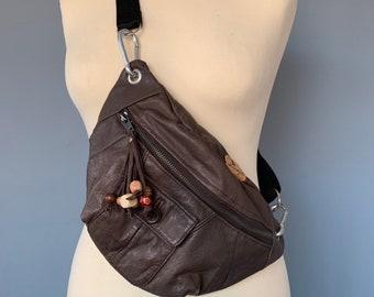 Fanny pack leer bumbag Waist bag crossbodybag