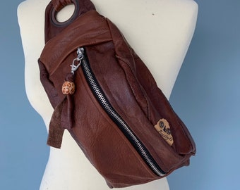 Fanny Pack Brown Leather Bumbag