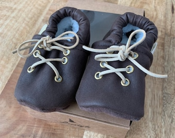 Leather Baby/Kids slipper shoes with laces