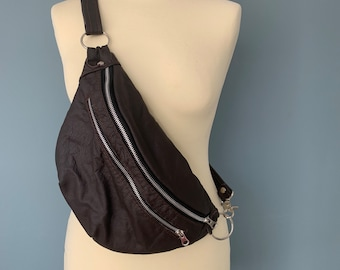 Fanny Pack beltbag hip bag brown leather