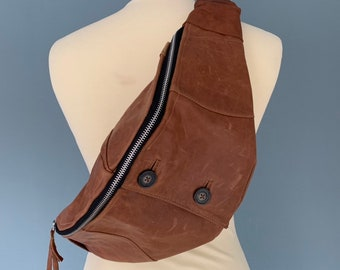 Fanny Pack beltbag bumbag Hip bag brown leather