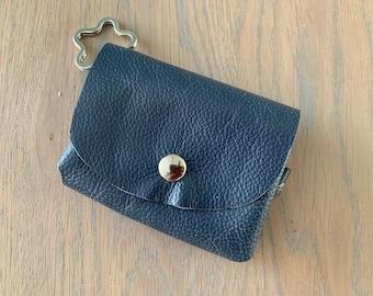Leather key chain purse bag