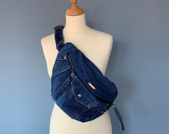 Fanny Pack bumbag hobotas crossbody bag made from Levi's Jeans