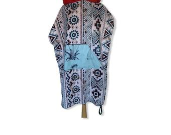 Surfponcho bathcape changing towel surfcape hoodie Size S microfiber