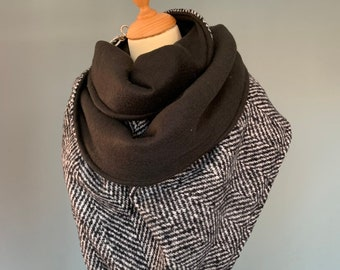 Large Scarf XXL shawl with lobster clasp