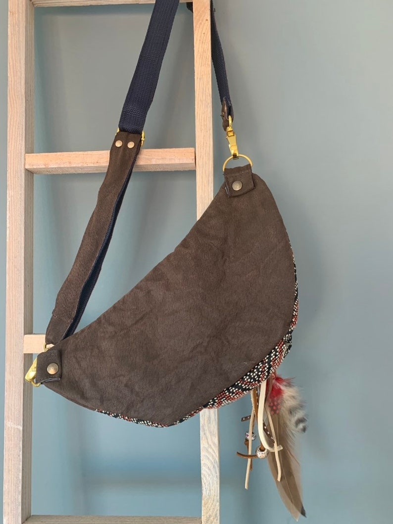 Small Fanny pack belt back leather pouch boho style