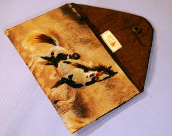 Envelope clutch - horses fabric