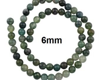 destash beads 8mm 1 strand green agate Aussie Etsy beading supplies DRAGONS VEIN AGATE bead round bead jane bari beads on Etsy