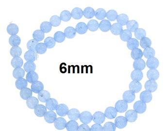 36 Pieces 6mm Aquamarine Beads