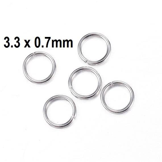 200 Pieces 4mm Stainless Steel Jump Rings Fine gauge Hypoallergenic