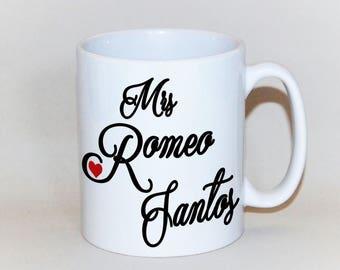 1a4d1d317 MRS ROMEO SANTOS mug, coffee mug for her birthday gift for her, 18th  birthday gift 16th birthday mug, Héroe Favorito,