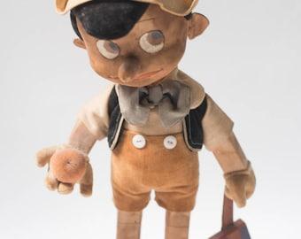 Pinocchio Doll Disney RARE 1930s  vintage toy