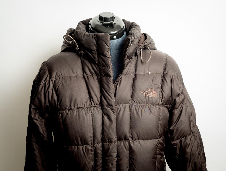 9338d1edf North Face Parka Jacket Women's Medium Brown Puffer Bubble Full Length Down