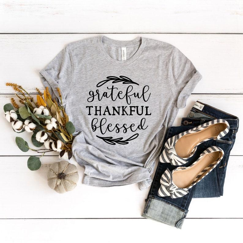 Thankful Blessed Shirt Masswerks Store