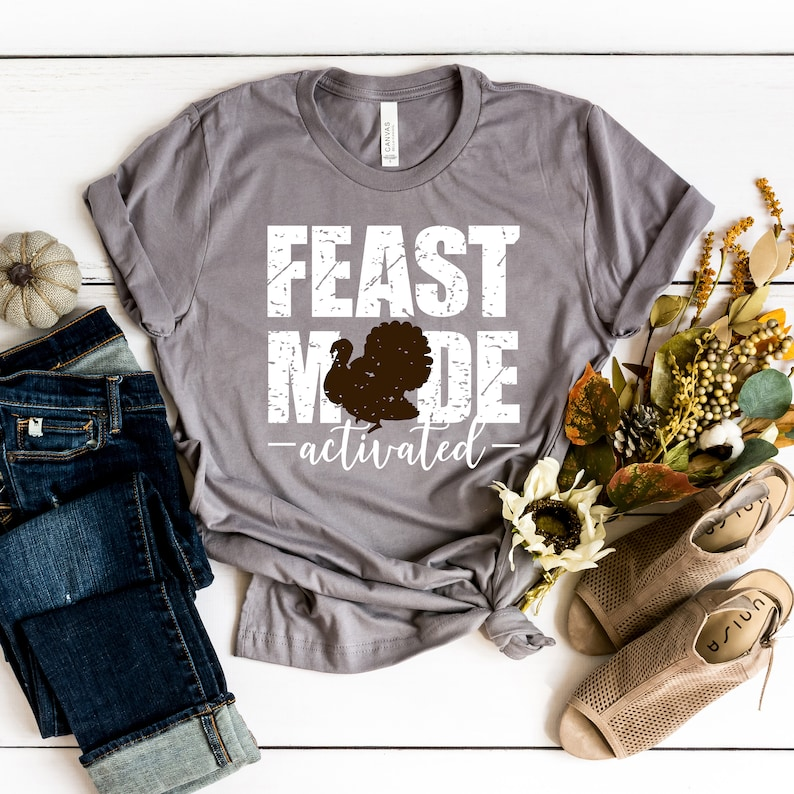 Feast Mode Activated Thanksgiving T-Shirt Masswerks Store