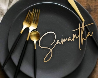 Place cards Wedding place cards Custom Laser Cut Names Place Setting Sign Dinner Party Place Card Wedding Escort Card Party Decoration