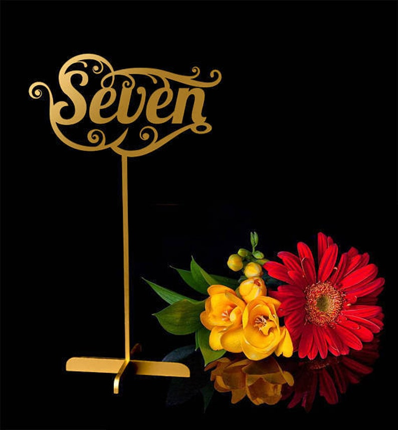 Table Numbers.Wedding signs.Gold table numbers.Table image 0