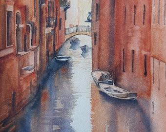 venice watercolor venice painting of venice watercolor original venice