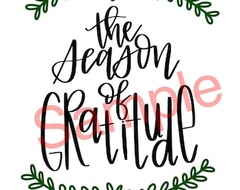 Season of gratitude digital download