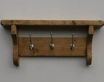 Wooden Coat Rack - reclaimed wood - Entryway- coat hooks -  coat stand - coat hanger mothers day - rustic hallway coat rack - Hat Hooks