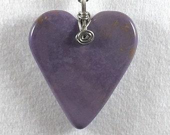Burro Creek purple heart on chain