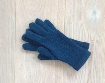 df36ede1ce5e57 Handgestrickte Handschuhe / Handschuhe mit Fingern / stricken Handschuhe /  Hand gestrickte Handschuhe / Petrol Handschuhe / Alpaka-Wolle-Mischung /  wolle / ...