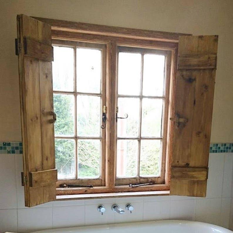 Salle de bain et lextérieur volets portes en bois | Etsy