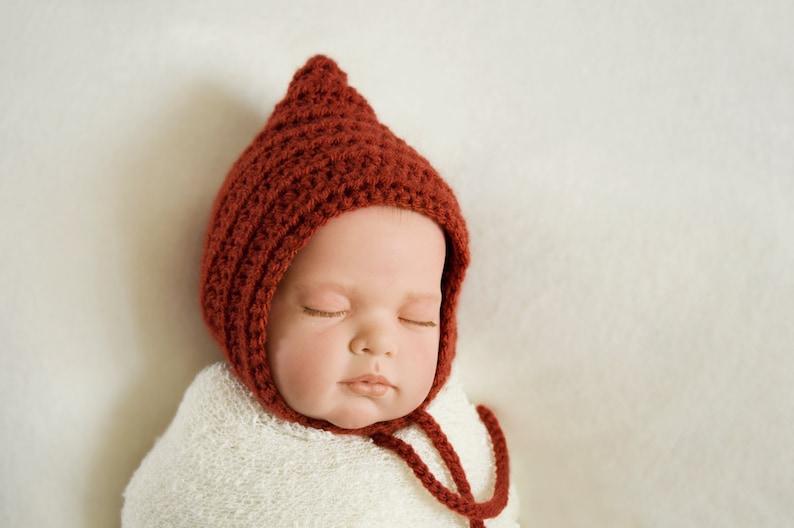 cb0d8d9374c06 Bonnet lutin béguin lutin bonnet bébé béguin crochet | Etsy