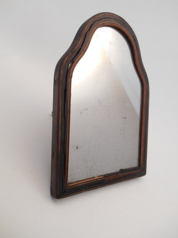 Vintage Vanity Mirror Table Top Wood Framed Mirror On Stand Etsy