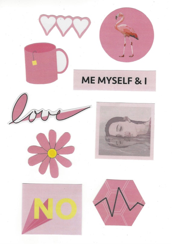 Crafty image within aesthetic printable stickers