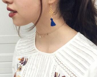 Gold Dangle Tassel Earrings gold earrings drop earrings dangle earrings long earrings dainty earrings fancy earrings preppy earrings thin