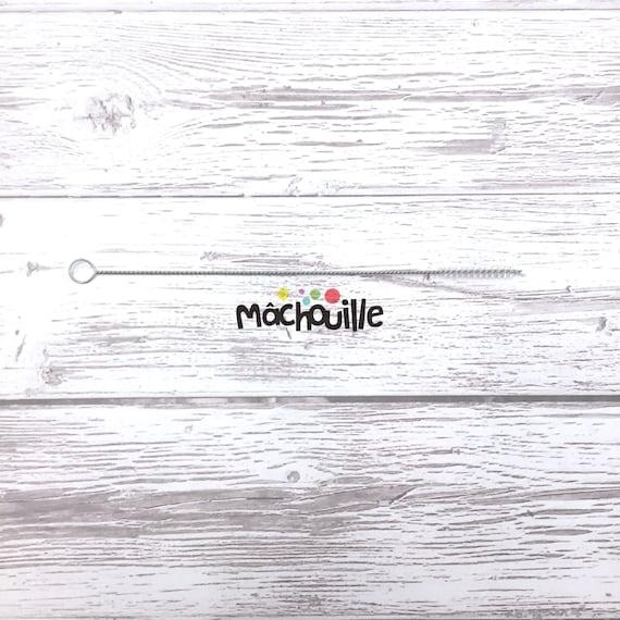 Brosse de nettoyage pour pailles réutilisables en silicone mâchouille
